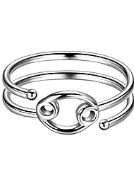 cheap -cancer adjustable ring constellation astrology 925 sterling silver opening statement horoscope zodiac ring for women men teen girls jewelry gift kr0019x