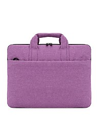 cheap -Unisex Waterproof Oxford Cloth Laptop Bag Zipper Solid Color Daily Office & Career Black Purple Pink Pale Blue