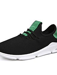 cheap -men breathable knitted fabric lightweight sport casual running shoes