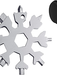 cheap -18-in-1 Stainless Multi-Tool Snowflake Multi-Tool Card Portable Keychain Screwdriver Bottle Opener Snowboarding Multi-Tool Come with Black Gift Box
