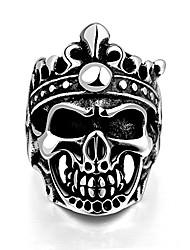 cheap -stainless steel skull rings for men boys jewelry chic punk skull head