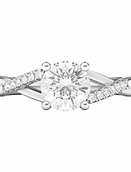 cheap -sterling silver twisted split shank simulated 1.0 ct diamond engagement ring promise bridal ring (4)