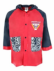 cheap -kid's cars piston cup rain coat, 5/6 years, red