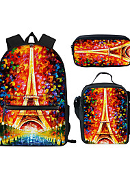 cheap -Unisex Kids Polyester Laptop Bag School Bag Commuter Backpack Large Capacity Waterproof Zipper 3D Print Animal Causal Outdoor Black Blue Almond Dusty Rose Rainbow