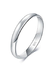 cheap -925 sterling silver ring high polish plain dome tarnish resistant comfort fit wedding band 3mm ring size 7.5