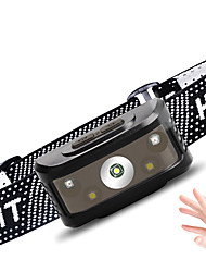 cheap -Outdoor LED Headlamp Flashlight Waterproof 2 LED Beads 5W USB Rechargeable Multi-function Motion Detection Monitor Warm White+White 3.7 V Outdoor Lighting