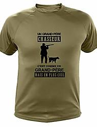 cheap -tee shirt hunting grandfather hunter gift idea - green - l