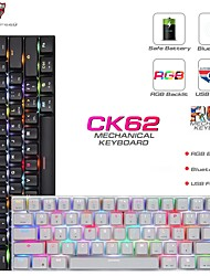 cheap -MOTOSPEED CK62 USB Wired Bluetooth Wireless Dual Mode Mechanical RGB Backlit Gaming Keyboard 61 Keys Portable Mini Keyboard