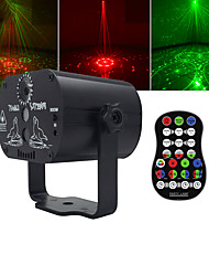 cheap -U'King Disco Lights Party Light Laser Stage Light DMX 512 / Master-Slave / Sound-Activated 9 W Outdoor / Party / Stage Professional Red Green for Dance Party Wedding DJ Disco Show Lighting
