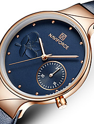 cheap -women's quartz leather and alloy fashion watches, brown, waterproof, date, color: rose gold-toned