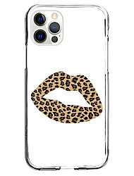cheap -Leopard Print Case For Apple iPhone 12 iPhone 11 iPhone 12 Pro Max Unique Design Protective Case and Screen Protector Shockproof Clear Back Cover TPU