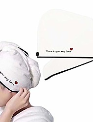 cheap -hair drying towel wrap cap turban microfiber hair towel bath shower head towel wrapped bath cap for makeup,wash face,spa,sports,yoga(thank you my love black)