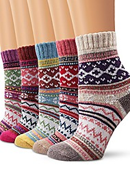 cheap -wool socks ladies socks, winter socks 5 pairs breathable warm soft colorful color premium quality climate-regulating effect (5005)