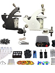 cheap -BaseKey Professional Tattoo Kit Tattoo Machine - 2 pcs Tattoo Machines, Mini Style Aluminum Alloy 16 W Coil Tattoo Machine