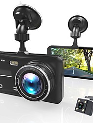 cheap -Dash Cam Dual Lens Full HD 1080P 4 IPS Car DVR Vehicle Camera FrontRear Night Vision Video Recorder G-sensor Parking Mode WDR