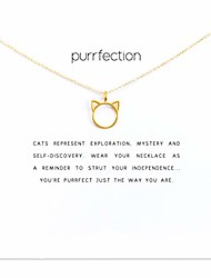 cheap -huno dainty lucky elephant horseshoe clavicle chain key angel wing hexagram star pendant necklace friendship bff jewelry (cat)