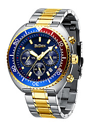 cheap -BIDEN Men's Steel Band Watches Analog Quartz Modern Style Minimalist Water Resistant / Waterproof Calendar / date / day Large Dial / One Year / Stainless Steel / Japanese