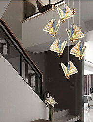 cheap -6-Light 8-Light 200 cm Single Design Pendant Light Metal Acrylic Electroplated LED Nordic Style 220-240V