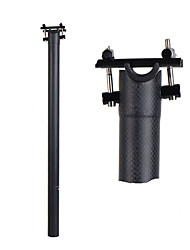 cheap -Bike Seatpost 33.9 mm 33.9 mm 600 mm BMX Folding Bike Cycling Matte Black Fiber Carbon / Ergonomic