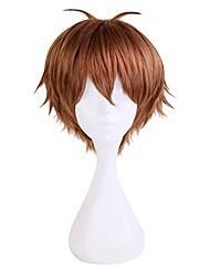 cheap -voltron pidge cosplay wig short brown hair 30cm (brown)