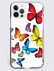 cheap -Butterfly Case For Apple iPhone 12 iPhone 11 iPhone 12 Pro Max Unique Design Protective Case Shockproof Back Cover TPU