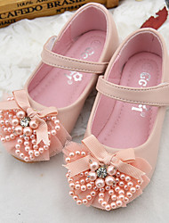cheap -Girls' Flats Princess Shoes PU Little Kids(4-7ys) Daily Walking Shoes Pink Beige Spring Fall