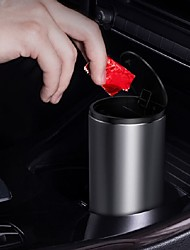 cheap -Car Trash Bin Can Mini Auto Dust Organizer Car Interior Rubbish Bag Garbage Container Storage Box Bucket Auto Accessories Black Dark Grey