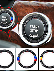 cheap -Ceyes For BMW E90 E92 E93 For M 3 Series German Flag Auto Engine Start Stop Circle Ring Covers Stickers Car Styling Accessories