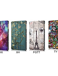 cheap -Case For Huawei Tablets MatePad T8 Shockproof Full Body Cases Cartoon / Eiffel Tower / Flower PU Leather / TPU