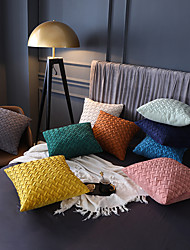 cheap -1 Pc Decorative Throw Pillow Cover Pillowcase Suede Solid Color Cross Pattern Cushion Cover for Bed Couch Sofa 18*18 Inches 45*45cm