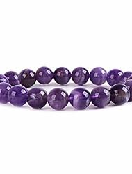 cheap -handmade 10mm round natural semi precious gemstone beaded stretch solid color bracelets (aqua blue serpentine)