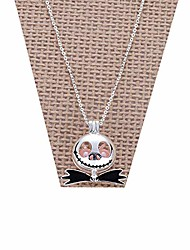cheap -hanreshe jack necklace pink pearl beads pearl cage pendant kids necklace cosplay jewelry nightmare before christmas for woman/kids's gift
