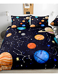 cheap -Galaxy Print 3-Piece Duvet Cover Set Hotel Bedding Sets Comforter Cover with Soft Lightweight Microfiber, Include 1 Duvet Cover, 2 Pillowcases for Double/Queen/King(1 Pillowcase for Twin/Single)