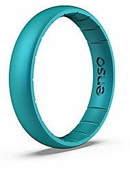 cheap -enso rings thin elements silicone ring | made in the usa | infused with precious elements | lifetime quality guarantee | comfortable, breathable, and safe (peacock quartz, 6)