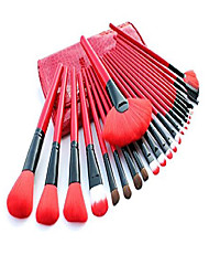 cheap -make up brushes, e-beshiny 24 pcs pro cosmetic makeup brush set powder tool kit set with case- fast shipping (red)