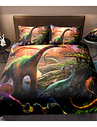 cheap -Dinosaur Print 3-Piece Duvet Cover Set Hotel Bedding Sets Comforter Cover with Soft Lightweight Microfiber(Include 1 Duvet Cover and 1or 2 Pillowcases)