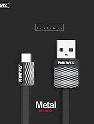 cheap -Remax Type-C Cable 2 A 1.0m(3Ft) Flat ABS+PC USB Cable Adapter For Samsung / Huawei / Xiaomi