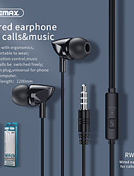cheap -Remax RM106 Wired Music Call Headset Phone Universal In-Ear 3.5mm Headphone Wholesale RW-106