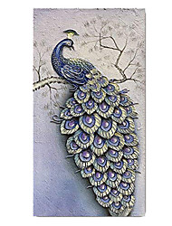 cheap -100% Hand-Painted Contemporary Art Oil Painting On Canvas Modern Paintings Home Interior Decor Abstract 3D Peacock Painting Large Canvas Art(Rolled Canvas without Frame)