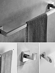 cheap -Bathroom Accessory Set / Towel Bar / Toilet Paper Holder New Design / Cool / Lovely Modern / Traditional Stainless Steel Bathroom / Hotel bath Wall Mounted