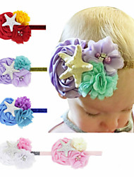 cheap -1pcs Toddler / Infant Girls' Active / Sweet White / Blue / Red Floral Chiffon Chiffon Hair Accessories White / Blue / Purple One-Size