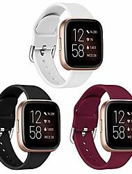 cheap -1 Pcs Watch Band strap compatible with fitbit versa 2 straps/versa/versa lite/versa se,soft silicone band wristbands strap accessories for women men
