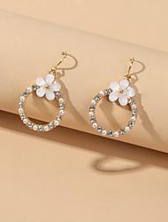 cheap -Women's Drop Earrings Geometrical Petal Romantic Sweet Imitation Pearl Earrings Jewelry Gold For Date Festival