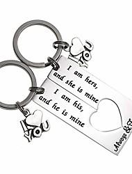 cheap -boyfriend girlfriend gift couple keychain i am his and he is mine set keychain valentine's gift wedding gift (i am his and he is mine keychain set)