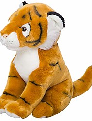 cheap -kawaii cute fluffy soft tiger stuffed plush doll for baby boy girls birthday party gift toy pillow