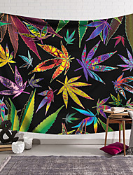 cheap -Wall Tapestry Art Decor Blanket Curtain Hanging Home Bedroom Living Room Decoration Modern Fantasy Color Maple Leaf Rendering Lanting Design