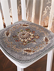 cheap -Exquisite Jacquard Solid Color European style Embossing Thicken Chair Cushion Home Office Seat Bar Dining Chair Seat Pads Garden Floor Cushion
