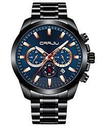 cheap -Men's Dress Watch Analog Quartz Modern Style Stylish Casual Calendar / date / day Stopwatch Large Dial / One Year / Titanium Alloy