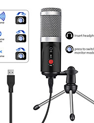 cheap -Computer Condenser Microphone PC USB Port Studio Device Sound Card Karaoke DJ Live Recording