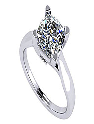 cheap -cushion cut simulated diamond solitaire engagement ring lucita style 6.0mm 1.50ct platinum plated 8